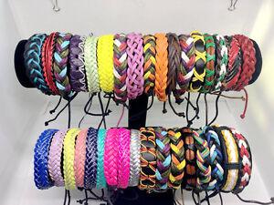 Wholesale lots 30/50/100pieces Mix Surfer Cuff Ethnic Tribal Leather Bracelets