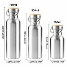 Stainless Steel Water Bottle Single Wall Vacuum Outdoor Sports Gym Metal Flasks