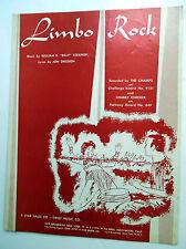 The CHAMPS Sheet Music LIMBO ROCK Gene Autry Publ. 60's POP Rock Chubby CHECKER