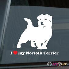 I Love My Norfolk Terrier Sticker Die Cut Vinyl