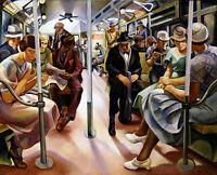 Lily Furedi : Subway : 1934 : Archival Quality Art Print
