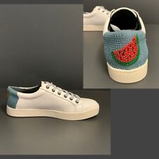 NEW CIRCUS BY SAM EDELMAN WHITE SNEAKER SHOES WITH SPARKLY WATERMELON