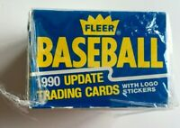 FLEER 1990 Baseball Update 132 Trading Cards w/ 22 Logo Sticker 10 Anniv. SEALED