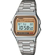 Casio A158WEA-9 Men's Metal Band Chronograph Alarm Digital Watch