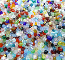 HOT! New 100/1000pcs 4mm Glass Crystal #5301 Bicone beads U Pick colors
