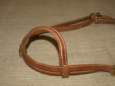 Harness leather one ear bridle headstall throatlach tie ends Custom  USA H250