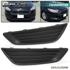 FOG LIGHT LAMP COVERS LH And RH For Ford Focus 2015 2016 2017 2018 Black