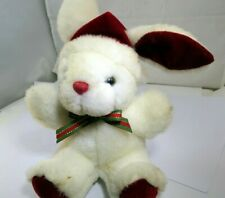"7"" Bunny rabbit plush toy Christmas Santa's helper decor"