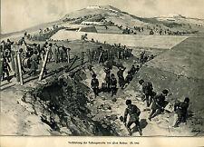 Verstärkung der Festungswerke von Port Arthur - Holzstich - aus 1904