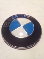 BMW 3 5 SERIES EMBLEM HOOD FRONT P# 8132375 GENUINE