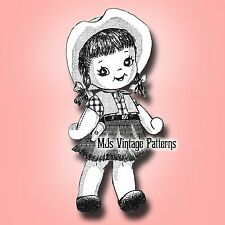 Cowgirl Vintage Doll Pattern
