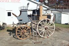 Horse Drawn Brewster Roof SeatedSleigh Buggy Wagon Carriage Antique Cart