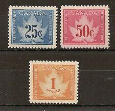 CANADA CONSULAR FEE REVENUES 1949 MAPLE LEAF FCF1/3, BAREFOOT 1/3 MNH