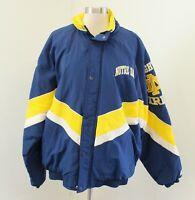 Vtg Starter Notre Dame Color Block Puffer Windbreaker Jacket Coat Size L Mens
