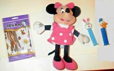 "Disney MINNIE MOUSE Doll 10"" EC + Bunny Pez & Candy Bags  Free Ship"