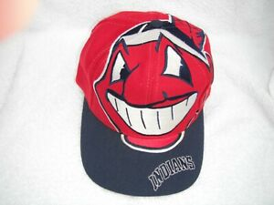 Vintage Cleveland Indians hat. Chief Wahoo the Game big logo wool