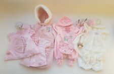 Baby Annabell clothes - dresses, winter suit, babygrow and christening outfit.
