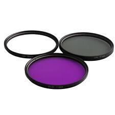 77mm Lens Filter Kits UV CPL FLD Polfilter Filters Set for Canon Nikon DSLR