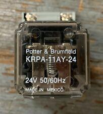 Potter Amp Brumfield Krpa 11ay 24 8 Pin 24v Relay With Square D Socket Base Nr52