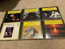 Chopin Liszt Sibelius Mozart Maazel 6 CD Lot Deutsche Grammophon West Germany