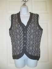 NWT Woolrich gray sweater vest Size M Womens