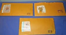 3 Vintage Crewel Embroidery Kits Vogart Crafts Small Unused Complete Open Pkg