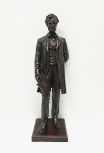 "Abraham Lincoln holding Emancipation Proclamation 16""Brass Statue George Bissell"