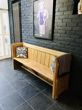 More details for beautiful pitch pine antique church pew