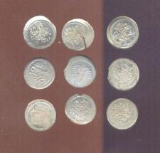 Turkey, 9 Pieces Very Fine Or Better 1808 Silver Akoe, Mahmud II, Free USA Ship.