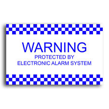 Electronic Alarm System Security Corflute Sign 5 Pack - Weather Proof