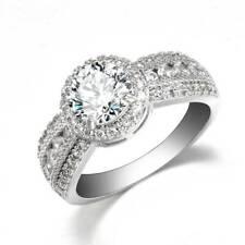 #9 Gorgeous Shine Women 925 Silver Rings White Sapphire Wedding Ring Gift