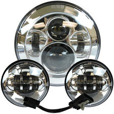 "7"" Motorcycle LED Projector Daymaker Headlight Passing Light F Harley Tour Glide"