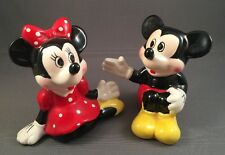 Vintage Applause Disney Mickey & Minnie Mouse Sitting S&P Shakers