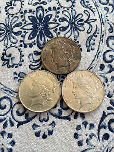 (3) Ch Gem 1922 Peace Dollars, Nice Coins!