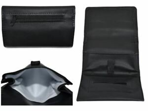 Leather Tobacco Magnetic Pouch Soft PU Fully Lined Black Colour Great Quality UK