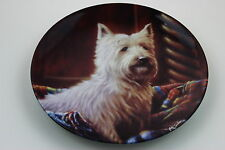 Royal Worcester Plate West Highland White Terrier by John Silver SIGNED Plate N7