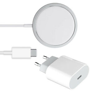 20W USB-C Power Adapter PD Ladegerät + 15W Magsafe Charger für iPhone 12 Serie