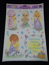 PRECIOUS MOMENTS EASTER / SPRING STATIC CLING WINDOW DECORATIONS VINTAGE **NOS**