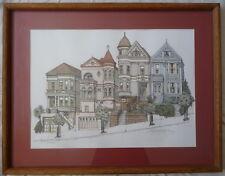 San Francisco - Steiner Street/Alamo Square - signed lithograph Debbie Patrick
