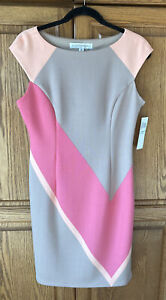 Maggy London Coral Sleeveless Lined Pencil Dress Size 8 New