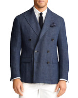 POLO Ralph Lauren Cruise Navy Mens Blazer Double Buttons SOFT Size 42R