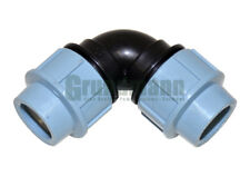 Winkel 90° 32x32 - PE Rohr Kunstoff (PP) Fitting Klemmverbinder Verschraubung Tr