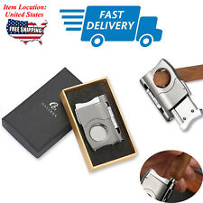 Galiner 2-in-1 Cigar Cutter Punch Scissors Knife Stainless Steel Shear Portable