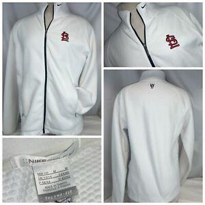 St. Louis Cardinals Nike Therma Fit Jacket M Women White Poly Full Zip YGI K0-90