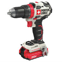 "Porter-Cable 20V MAX 1.3 Ah BL 1/2"" Drill Kit PCCK607LBR Certified Refurbished"