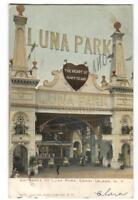 Postcard Entrance to Luna Park Coney Island NY 1906