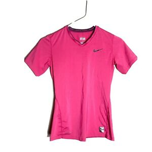 Nike Pro Size XS Women's Pink Short Sleeve Activewear Top Workout Gym