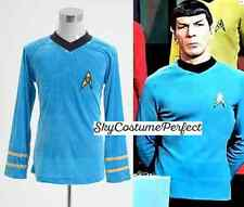 FREE WW SHIP Star Trek TOS The Original Series Spock Blue Shirt Costume Cosplay