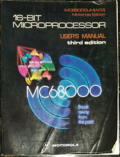 Used 1982 Motorola Mc68000 16-Bit Microprocessor User's Manual