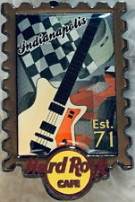 """Hard Rock Cafe INDIANAPOLIS 2013 STAMP City Series PIN Postage """"Est 71"""" #74986"""